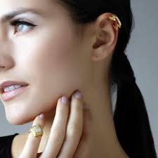 ear cuff images origami chevron non pierced ear cuff earrings by isharya jewelry