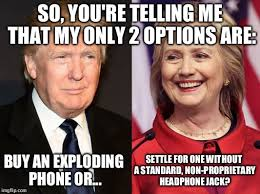 Galaxy Phone Meme - image tagged in donald trump hillary clinton iphone 7 galaxy note 7