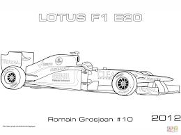 lotus 2012 e20 formula 1 car coloring free printable