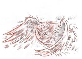 flying owl tattoo design by asatorarise