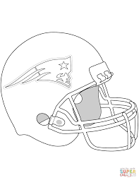 new england patriots helmet coloring page free printable