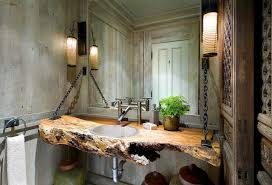 traditional bathroom designs natural log vanity black faucet dual