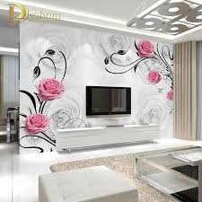 compare prices on wall mural roses online shopping buy low price custom photo wallpaper large 3d living room bedroom sofa tv background wallpaper mural rose flowers 3d