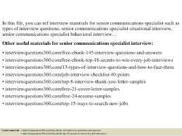 top 10 senior communications specialist interview questions and answe u2026