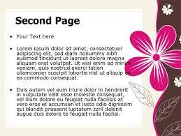fuchsia flower powerpoint template backgrounds 07364