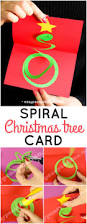 spiral christmas tree card easy peasy and fun