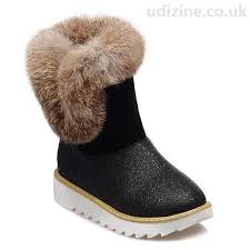 womens winter boots uk stylish s boots with splice faux fur black toe