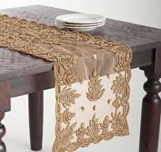 amazon com elegant lakshmi hand beaded gold table runner 16