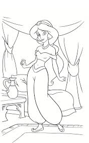 jasmine colouring pages for kids download free printable