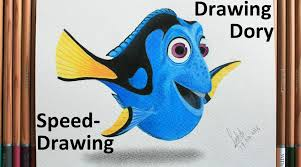 draw color dory finding dory speed drawing