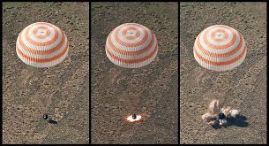 soyuz tma 17 retro rockets firing during landing jpg