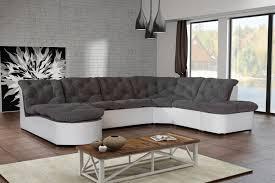 canap gris distingué canapé gris et blanc canap dangle modulable en tissu