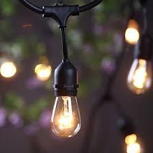 outdoor commercial string lights amlight 24 ft heavy duty