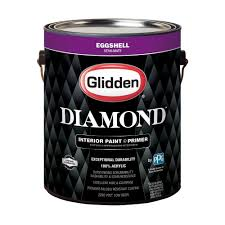 glidden 1 gal pure white eggshell interior paint and primer gld