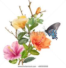 digital flower painting stock images royalty free images