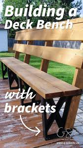 building a deck bench with brackets decking backyard and patios