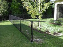 4 u0027 tall black chain link installed by white fence company creates