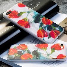cuisine plus 3d aki 3d relief tulip phone cases for iphone 8 7 6 6s plus