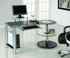 Black Home Office Desks Glass Home Office Desks Foter