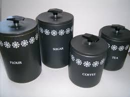 100 black kitchen canisters furniture vintage stainless black kitchen canisters vintage black canisters set of 4 coffee sugar tea flour 60s