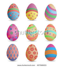 Decorate Easter Eggs Crossword by Easter Eggs Painted Pattern Vector Illustration Stock Vector