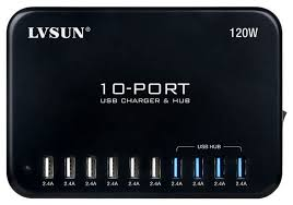 ls with usb outlets ls 10u24f hub usb intelligent charger 10 port 120w hub wagner