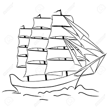 outline of a boat kids coloring europe travel guides com