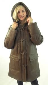 shearling sheepskin 3 4 length duffle coat