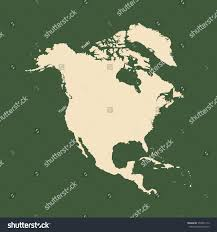 Blank Map Of The Usa by Outline Map North America Isolated Vector Stock Vector 574935112