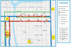 Cta Blue Line Map Loop Link Express Bus Service Makes Its Debut This Weekend