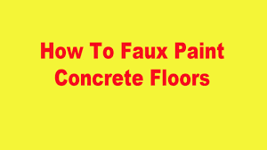 how to faux paint concrete floors youtube