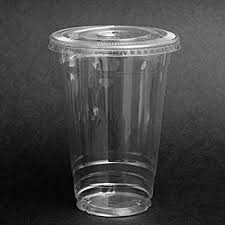 plastic cups with lids safepro 100 sets 20 oz plastic clear cups with flat lids for iced