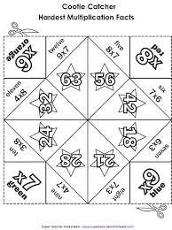 Multiplication Fortune Teller Template multiplication cootie catchers fortune tellers orgami project