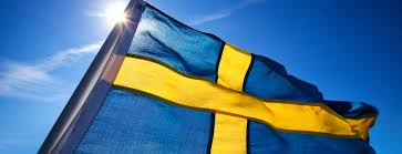 Flag With Cross And Stripes Sweden Is Alive Territory