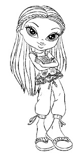 319 best bratz color pages images on pinterest coloring