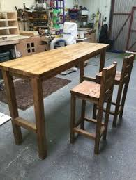 4ft rectangle kitchen table made from reclaimed scaffold boards