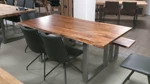 Esszimmertisch Naturkante Tisch Baumkante Wunderbar Kerala Massivholz Akazie 180x100 Cm Mit