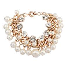 pearl bracelet with gold chain images Famous designer top quality women accessories gold chain imitation jpg