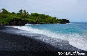 black sand beach hawaii waianapanapa black sand beach maui