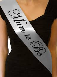 baby shower sash silver satin baby shower to be sash co uk toys