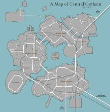 Grand Central Map A Map Of Gotham City Oc 2800 X 2865 Mapporn