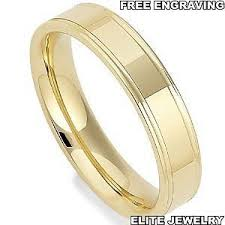 mens wedding ring sizes 4mm wide mens 14k yellow gold wedding bands ring sizes 4 13 free