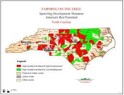 Map Of Tennessee And North Carolina by Farming On The Edge American Farmland Trust