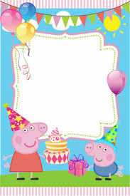 peppa pig birthday best 25 peppa pig birthday invitations ideas on peppa