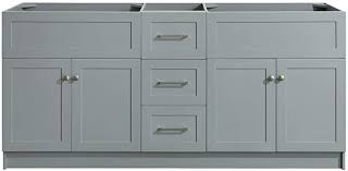 60 inch kitchen sink base cabinet white dkb bradford series 72 inch bathroom base cabinet in grey sink configuration built in toe kick 4 soft closing doors 3 extension