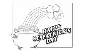 rainbow pot of gold coloring pages 12 printable st patrick u0027s day coloring pages for kids st