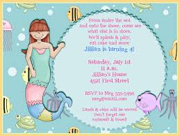 under the sea birthday invitation wording addnow info