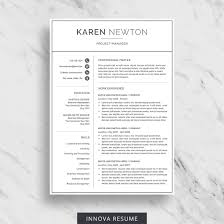 Two Page Resume Header Modern Resume Template For Word Minimalist Resume Design 2