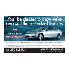 lexus service chatswood print ads outdoor twin petes