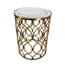 Gold Accent Table Gold Lattice Marble Top Accent Table Home Accessories Furniture